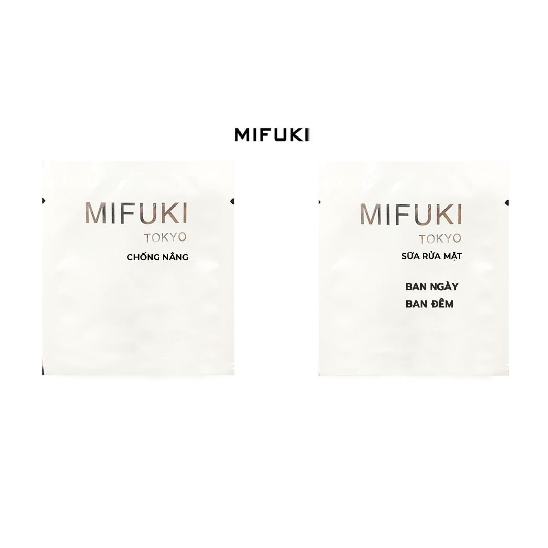 Bộ đôi Sample Sữa Rửa Mặt UV Brighten Foam Cleanser 5ml và Kem Chống nắng Organia Sun Cream MIFUKI 5ml
