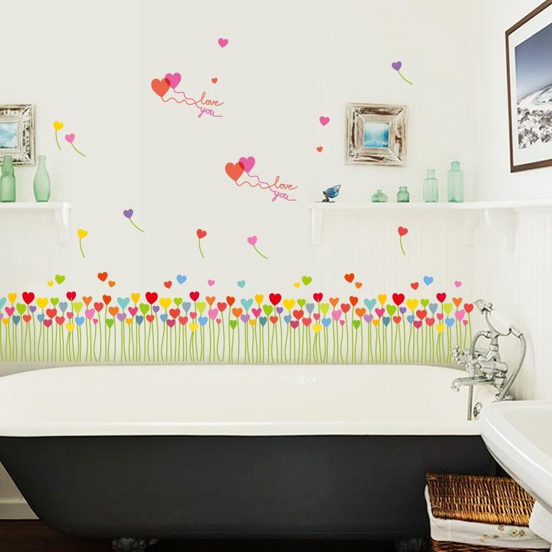 Decal dán tường T01 Trang trí chân tường, cầu thang đẹp