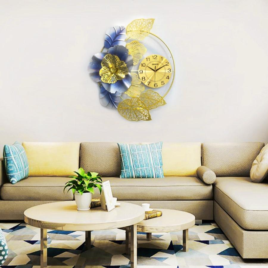 Đồng Hồ Treo Tường S-DC225 Trang Trí độc lạ đẹp hiện đại cao cấp cỡ lớn 3d phù hợp phòng khách, phòng ngủ