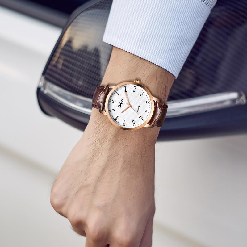 Đồng hồ Onlyou Nam 81029GC Dây Da 40mm