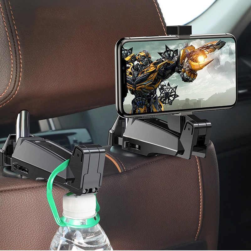 Giá đỡ cho điện thoại gắn sau ghế ô tô Baseus back seat hook mobile phone holder( SUHZ-A01 ) - Hàng Chính Hãng