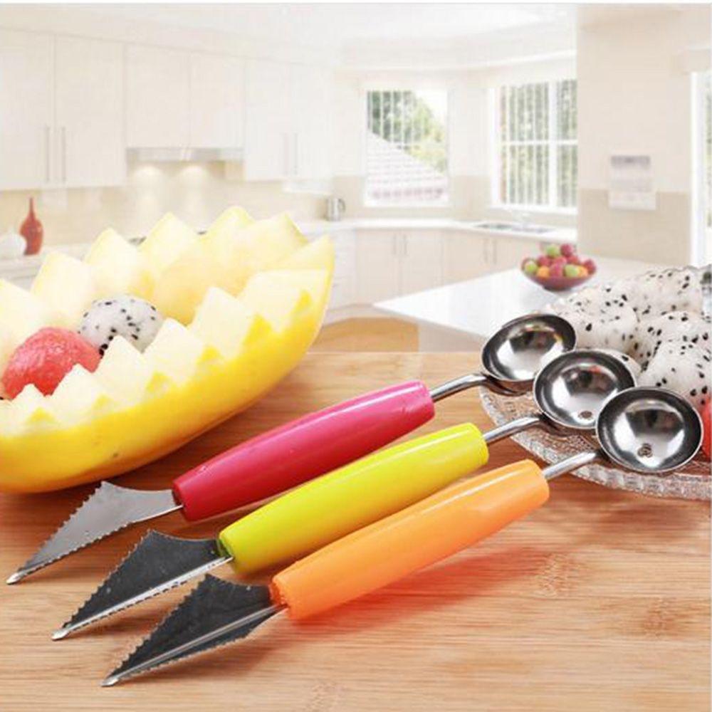 Dụng cụ khắc trang trí trái cây gồm muỗng múc và dao tỉa - giao màu ngẫu nhiên