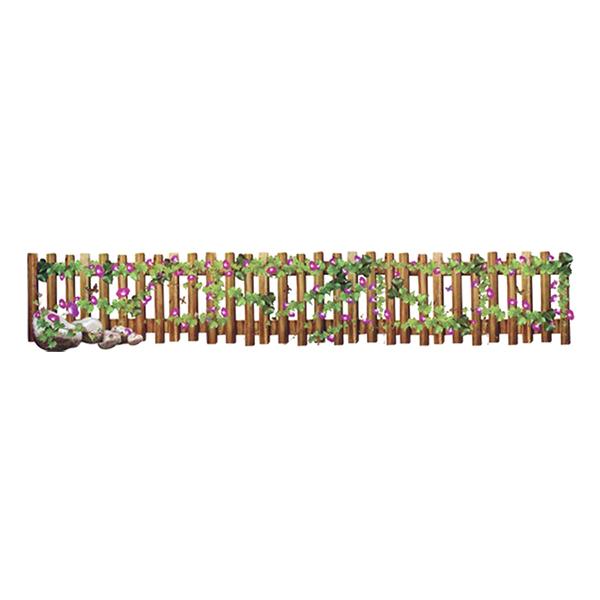 Decal Dán Tường Họa Tiết CT Hàng Rào Hoa Tím CT23 (25 x 125 cm)