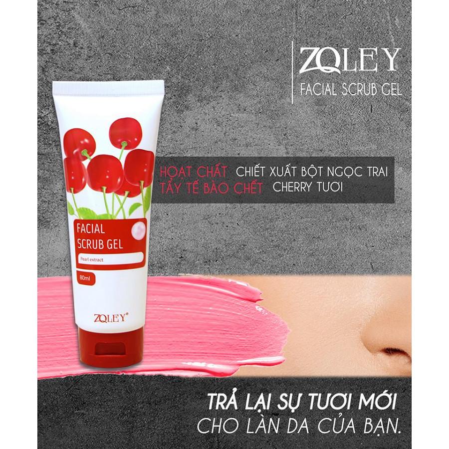 Hoạt chất Tẩy tế bào chết da mặt Cherry Zoley (80ml)