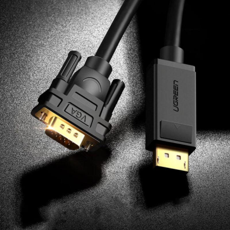 Dây chuyển đổi DisplayPort sang VGA hỗ trợ phân giải 1920x1200 dài 2M UGREEN DP105 10235 - Hàng chính hãng