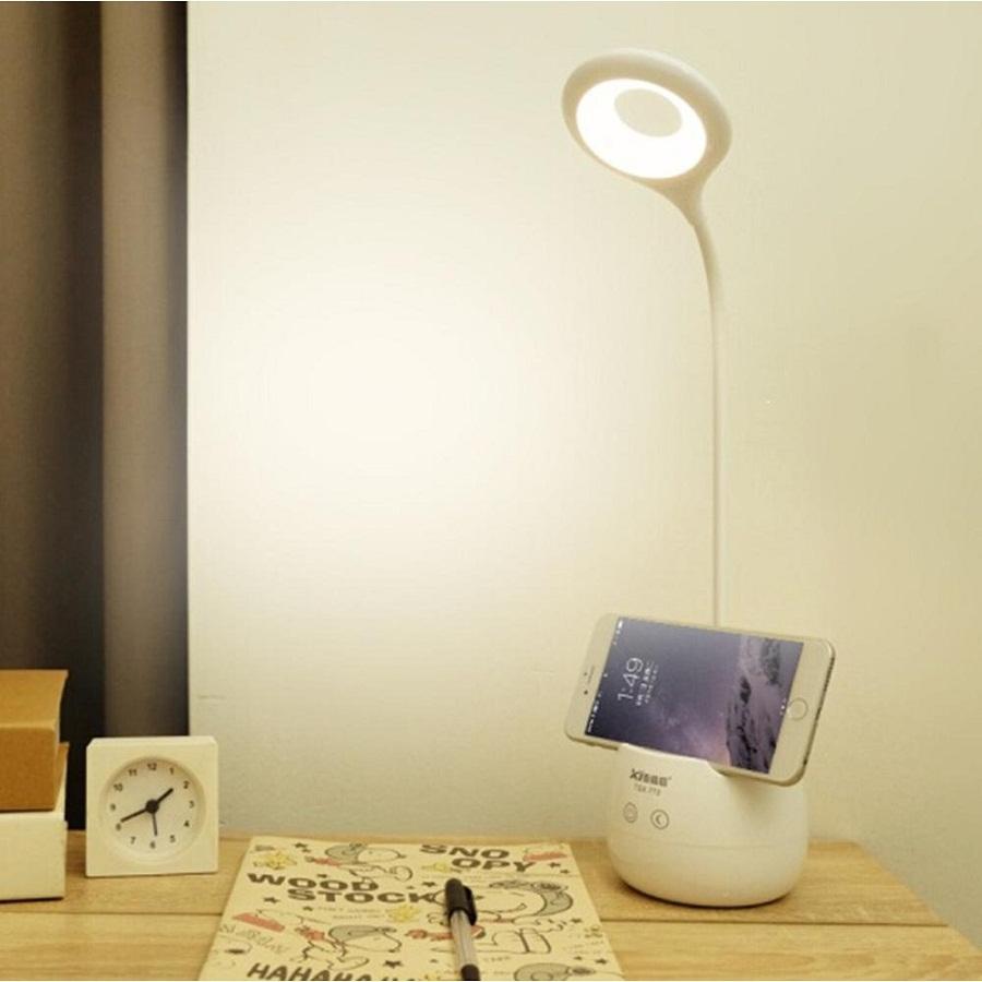 Đèn LED sạc để bàn kiêm đèn ngủ cảm ứng TGX-772 (Trắng)