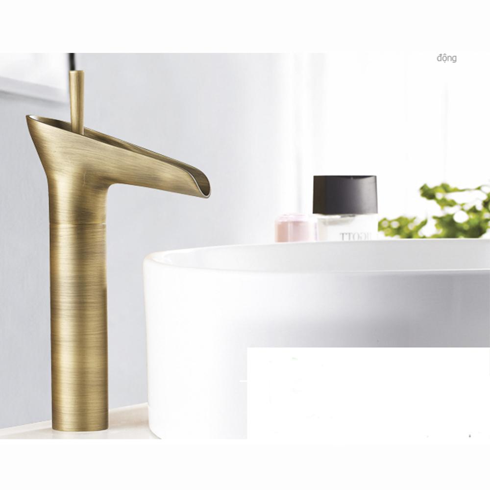 Vòi rửa lavabo nghệ thuật VOI004 – Mô hình ống đồng tối giản