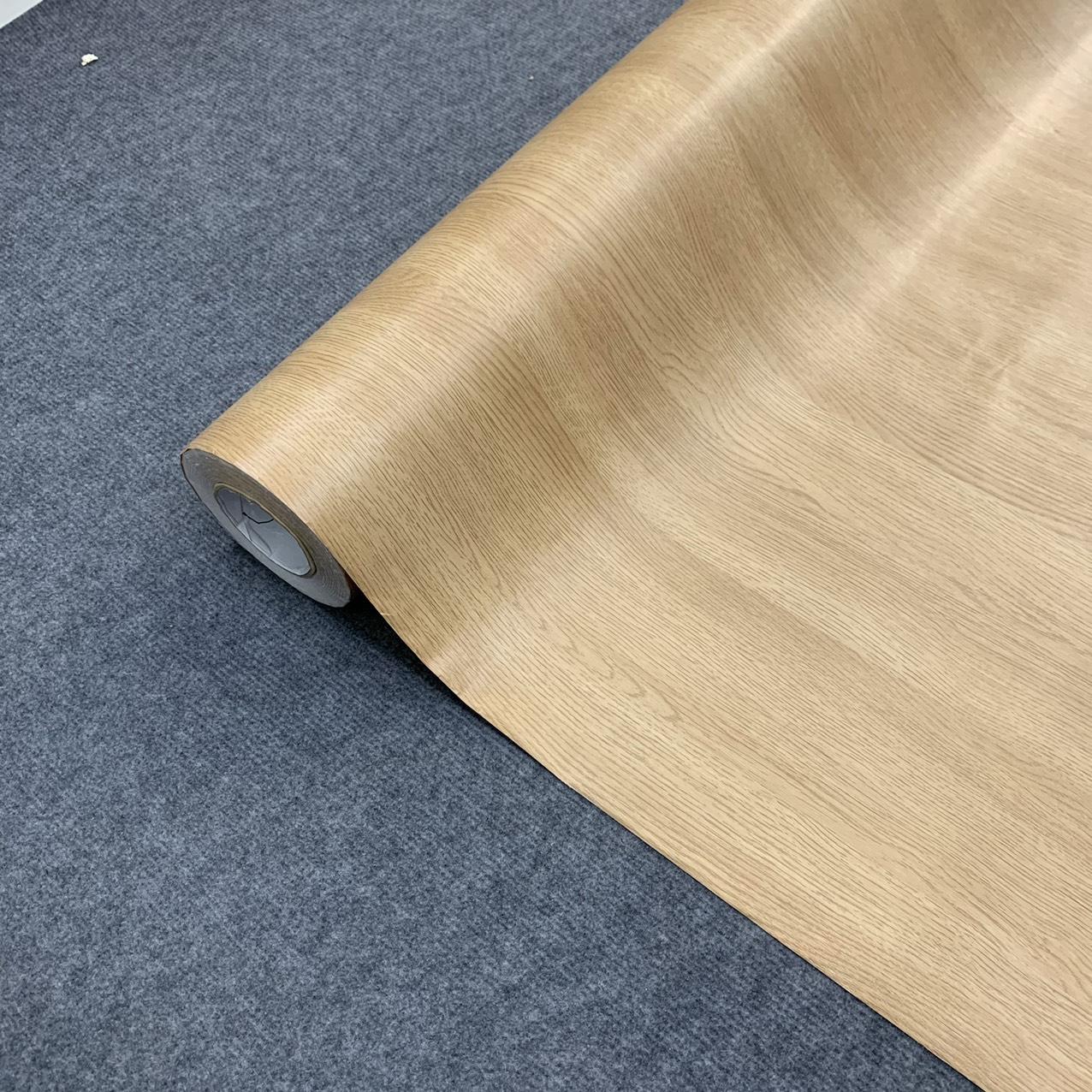 Decal vân gỗ màu vàng kem - Giấy dán tường bàn tủ có sẵn keo ( khổ 1,2m - Mẫu G5 )