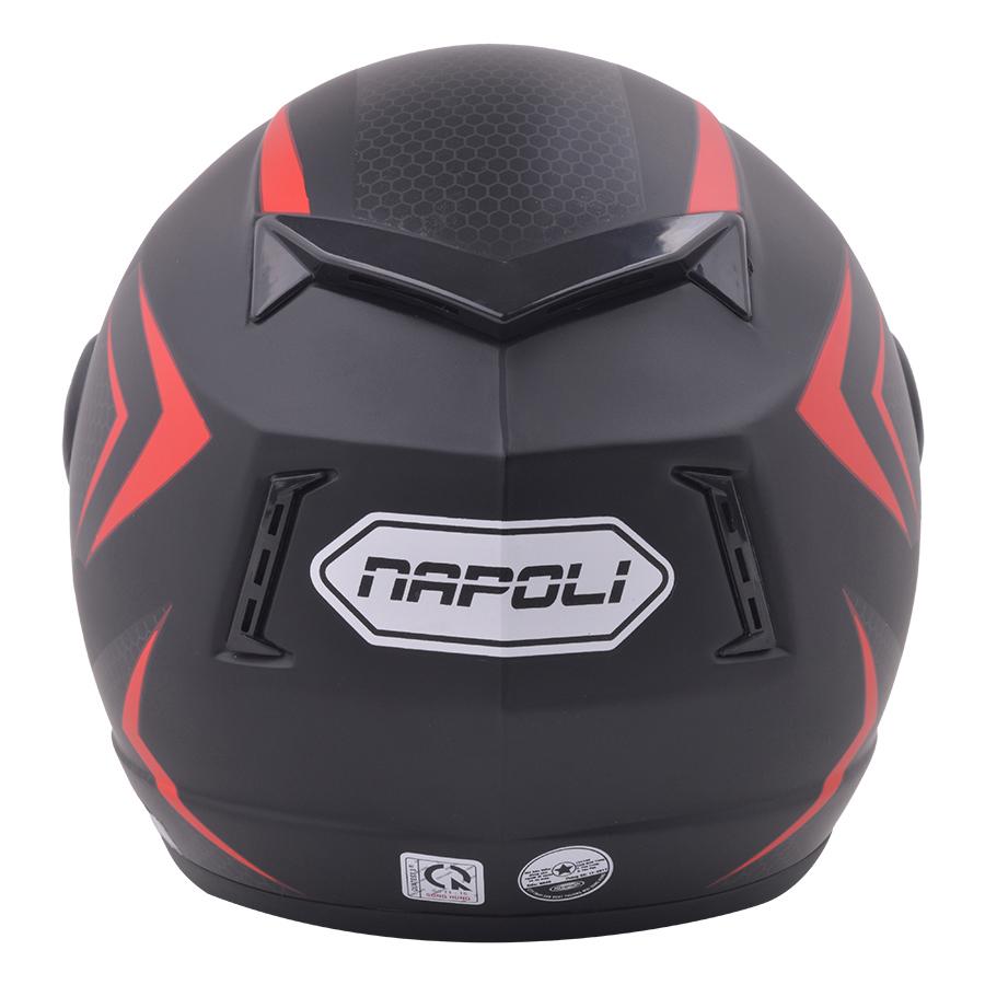 Mũ Bảo Hiểm Kính Trong Tem V2 Napoli N039-V2-KT - Đỏ