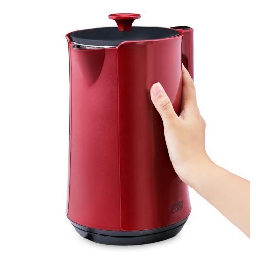 Bình (ấm) đun cao cấp giữ ấm inox 304 nguyên khối, 2 lớp, 1,7L Green Cook _ GCEK-17S18D - Hàng chính hãng