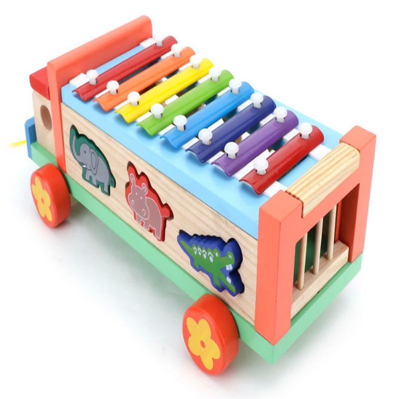 Đồ chơi gỗ cao cấp - Xe nhạc thả hình