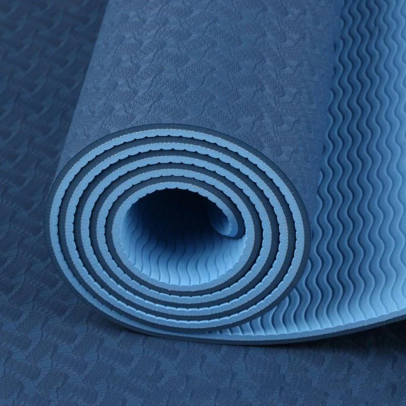 Thảm Tập Yoga Chống Trượt 2 Lớp Dày 6mm Màu Ngẫu Nhiên - TRVS