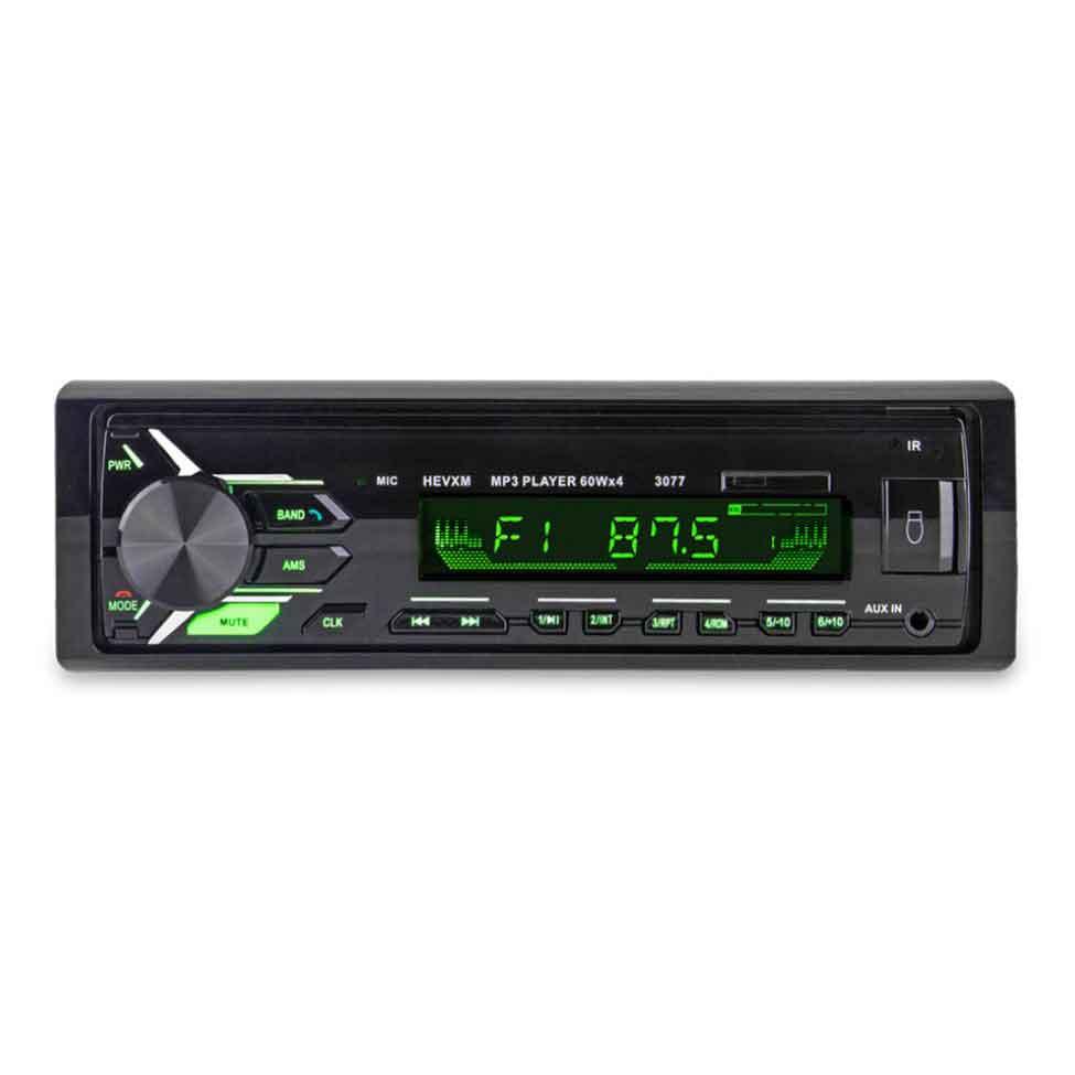 Máy Nghe Nhạc Cho Ô Tô MP3 Bluetooth Tích Hợp Radio 3077 Điện Áp 12VDC