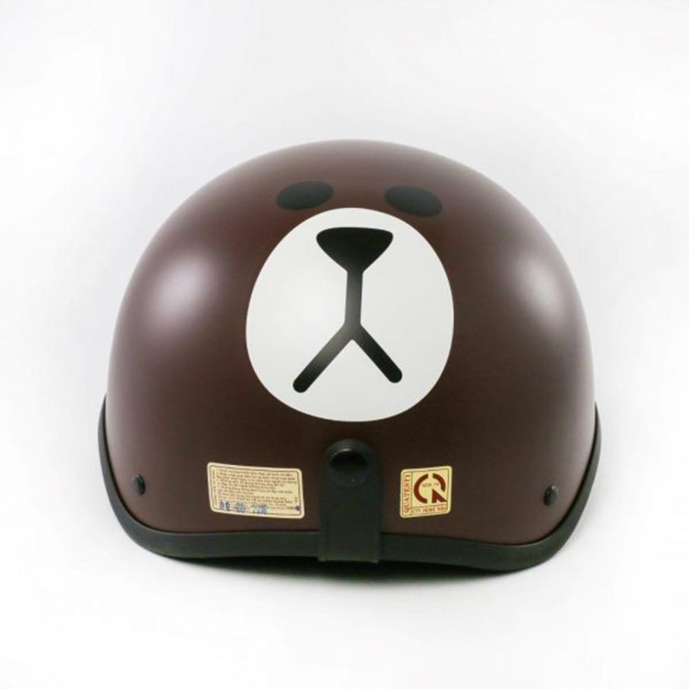 Mũ bảo hiểm nửa đầu SRT tem Gấu kèm kính chống bụi UV400 - Nón 1/2 đầu tem thời trang