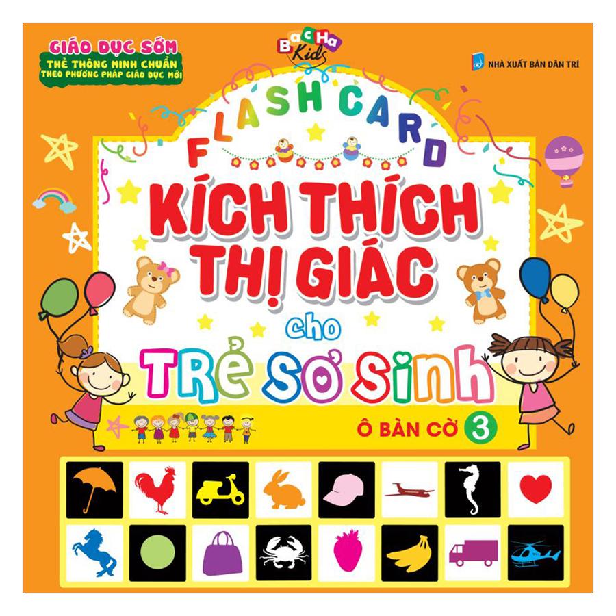 Flashcard Kích Thích Thị Giác Cho Trẻ Sơ Sinh 3 - Ô Bàn Cờ (Tái Bản 2019)