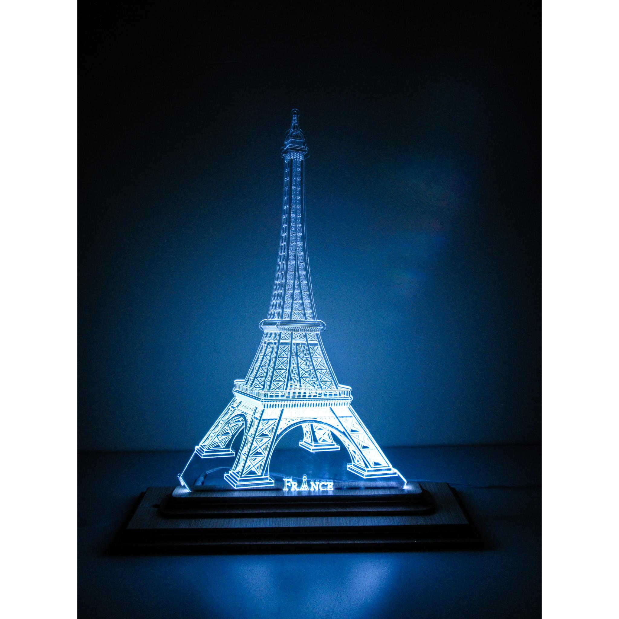 Đèn Led 3D|Mô Hình Tháp Effel Loại Lớn