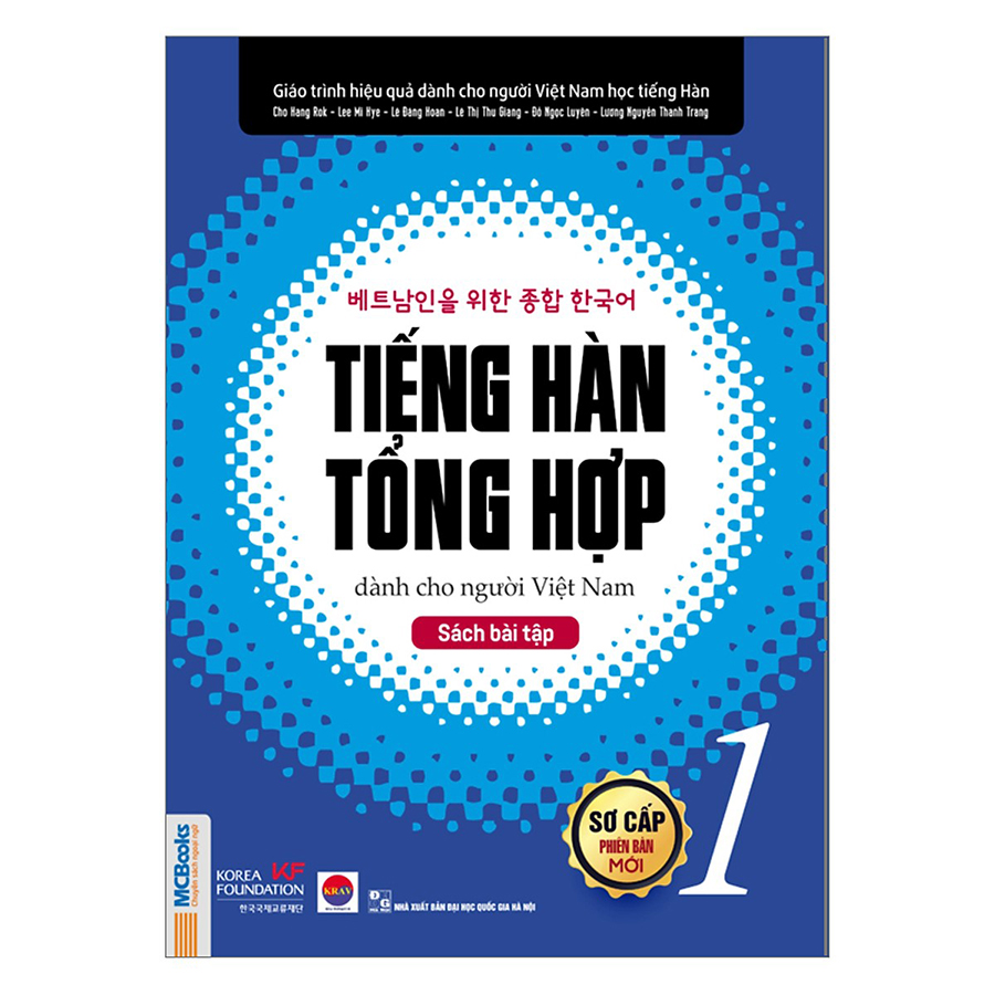 Combo Tiếng Hàn Tổng Hợp Dành Cho Người Việt Nam Sơ Cấp (4 Cuốn)(Tặng Kèm 600 Câu Giao Tiếp Tiếng Hàn Thông Dụng)
