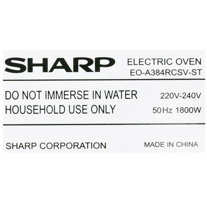 Lò Nướng Sharp EO-A384RCSV-ST (38L) - Hàng Chính Hãng