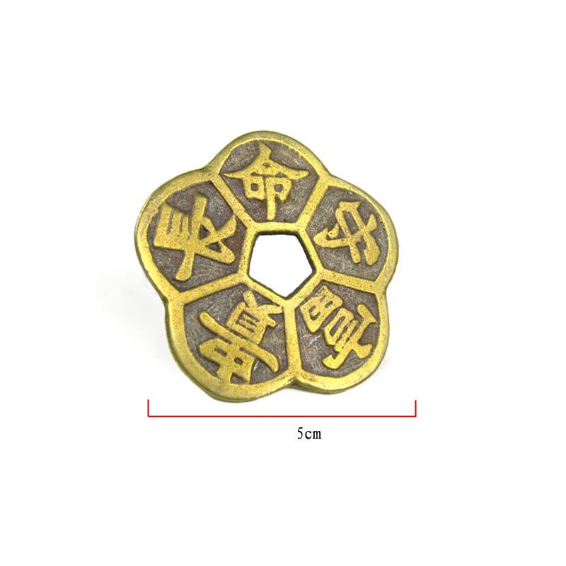 2 Đồng xu cổ hình dáng bông hoa