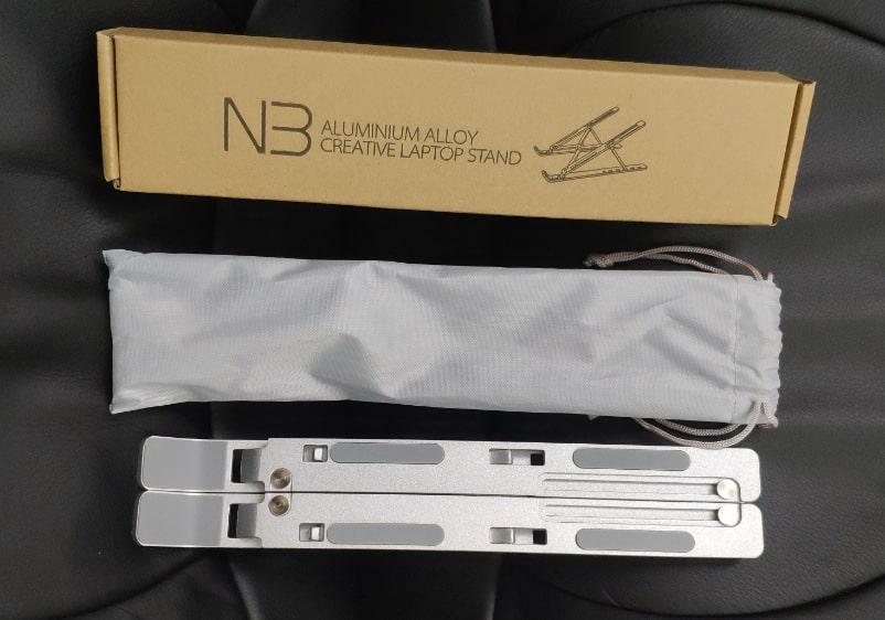 Giá đỡ laptop bằng nhôm gấp gọn dùng cho nhiều máy từ 11-17 inch, có thể điều chỉnh nhiều mức độ cao chất liệu hợp kim