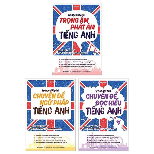 Combo Tự Học Đột Phá: Chuyên Đề Đọc Hiểu Tiếng Anh + Chuyên Đề Ngữ Pháp Tiếng Anh + Chuyên Đề Trọng Âm, Phát Âm Tiếng Anh (Bộ 3 Cuốn)
