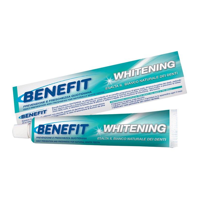 Kem đánh răng siêu trắng Benefit Whitening Fresh Total Benefit 75ml tặng kèm móc khóa