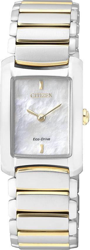 Đồng Hồ Citizen Nữ Dây Kim Loại Máy Eco-Drive EG2975-50D - Mặt Xà Cừ (29.6x20mm)