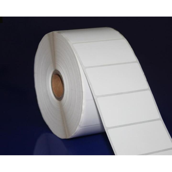 Combo 9 cuộn giấy in nhiệt, mã vạch,  tem phụ, tem cân 58x40mm