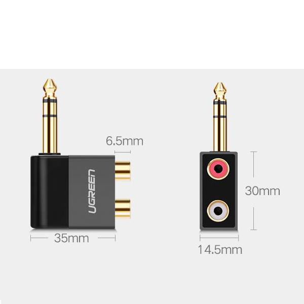 Đầu chuyển đổi 6.5mm to RCA (hoa sen) Ugreen 40846 - chính hãng
