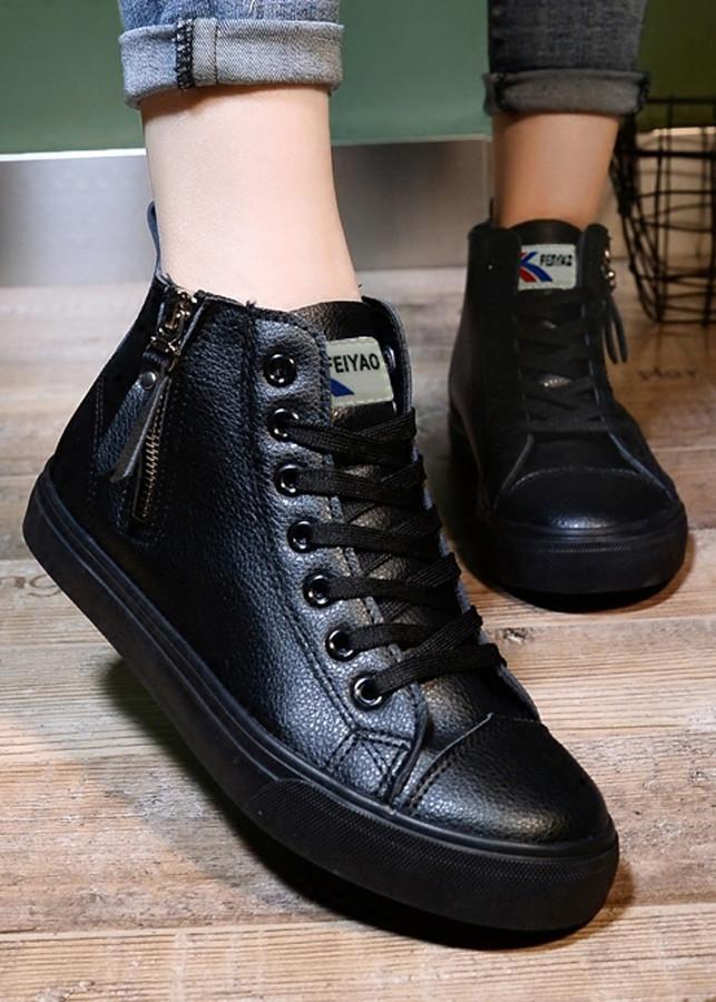 Giày snearker nữ cổ cao siêu xinh.da mềm êm chân dể phối đồ-96503