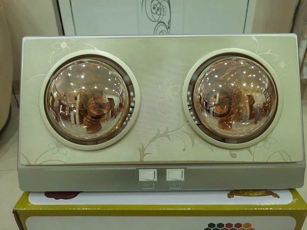 Đèn Sưởi ABG CH-B2D 2 Bóng Sưởi, Sưởi Ấm Nhà Tắm, Phòng Ngủ, Phòng Khách - Hàng Chính Hãng