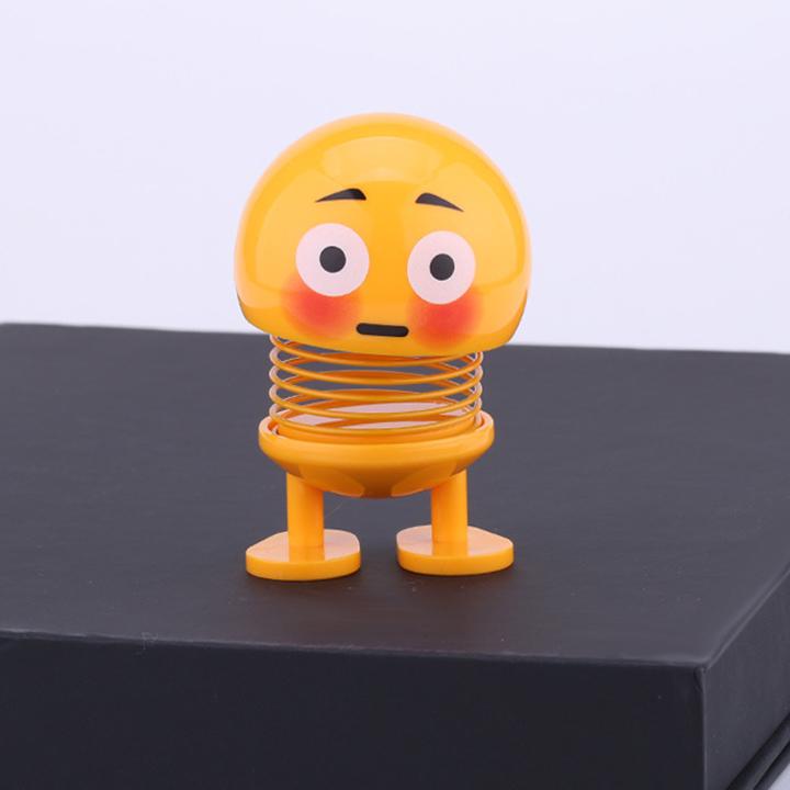 Combo 6 thú nhún Emoji lò xo ngộ nghĩnh 6 biểu cảm