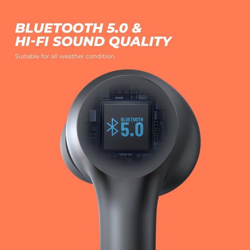 Tai Nghe True Wireless Earbuds SoundPeats Mac, thời gian sử dụng 60 giờ, chống nước IPX7, bluetooth v5.0 - Hàng chính hãng