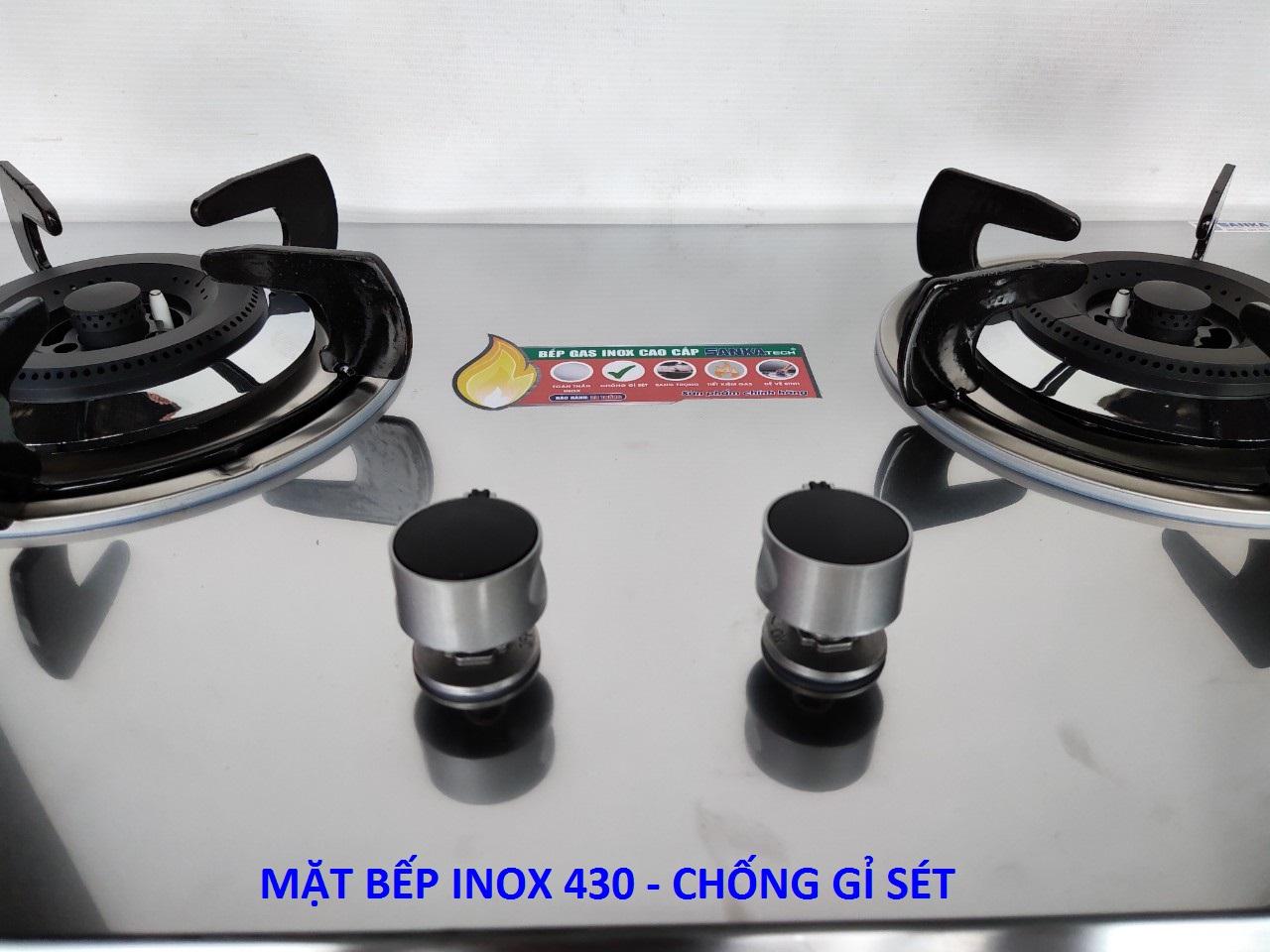 Bếp gas âm mặt Inox 430 SANKAtech 791IN - Bếp ga cao cấp 3 vòng lửa, có pep hâm - Hàng chính hãng cao cấp