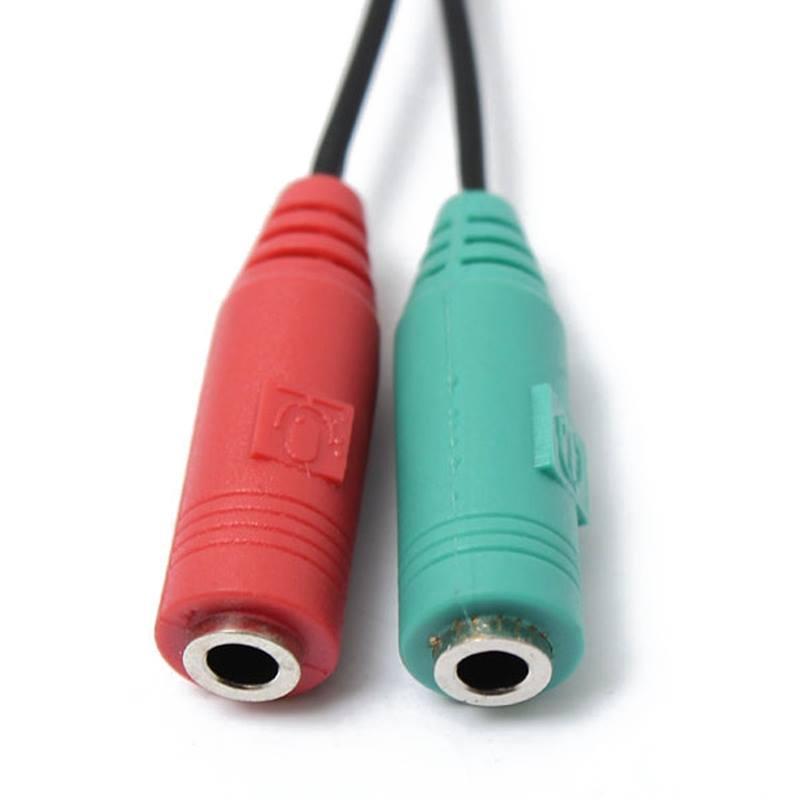 Cáp Chia Audio 3.5mm Ra Mic Và Loa Cao Cấp AZONE - Xanh Đỏ