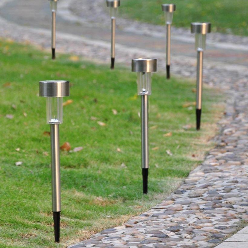 Bộ 10 đèn sân vườn năng lượng mặt trời inox HT1052C (ánh sáng trắng)