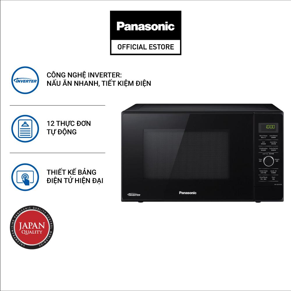 Lò Vi Sóng Inverter Tích Hợp Nướng Panasonic NN-GD37HBYUE Công Suất 1000W (23L)- Hàng Chính Hãng