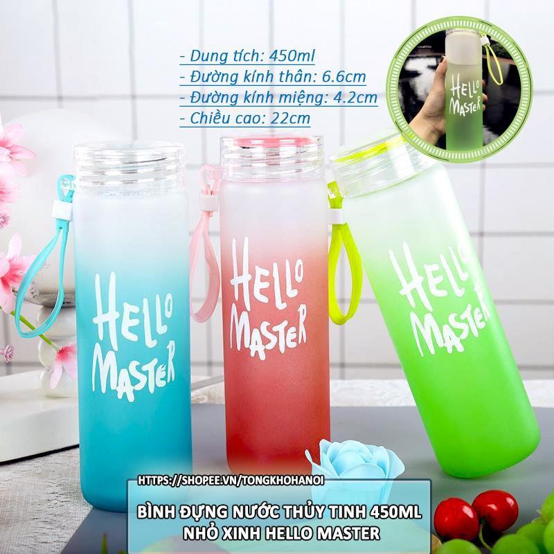 Chai Nước Thủy Tinh Hello Master 480 ml
