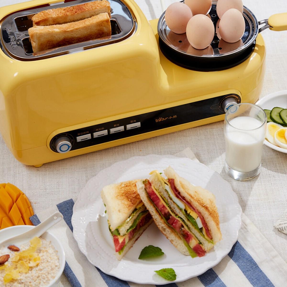 Lò nướng bánh mỳ kèm khay chiên trứng đa năng