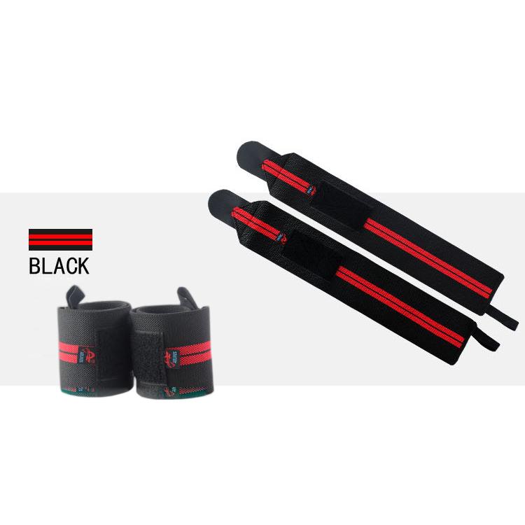 Quấn bảo vệ cổ tay tập gym, thể hình, chơi thể thao AOLIKES Đen - Đỏ