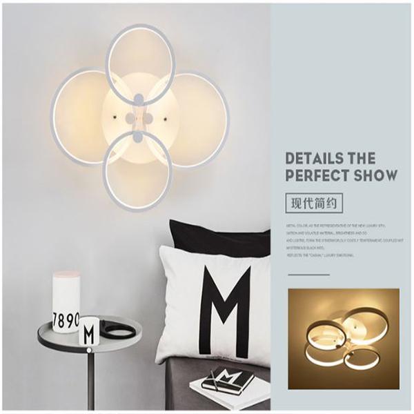 Đèn ốp trần LED 4 cánh tròn