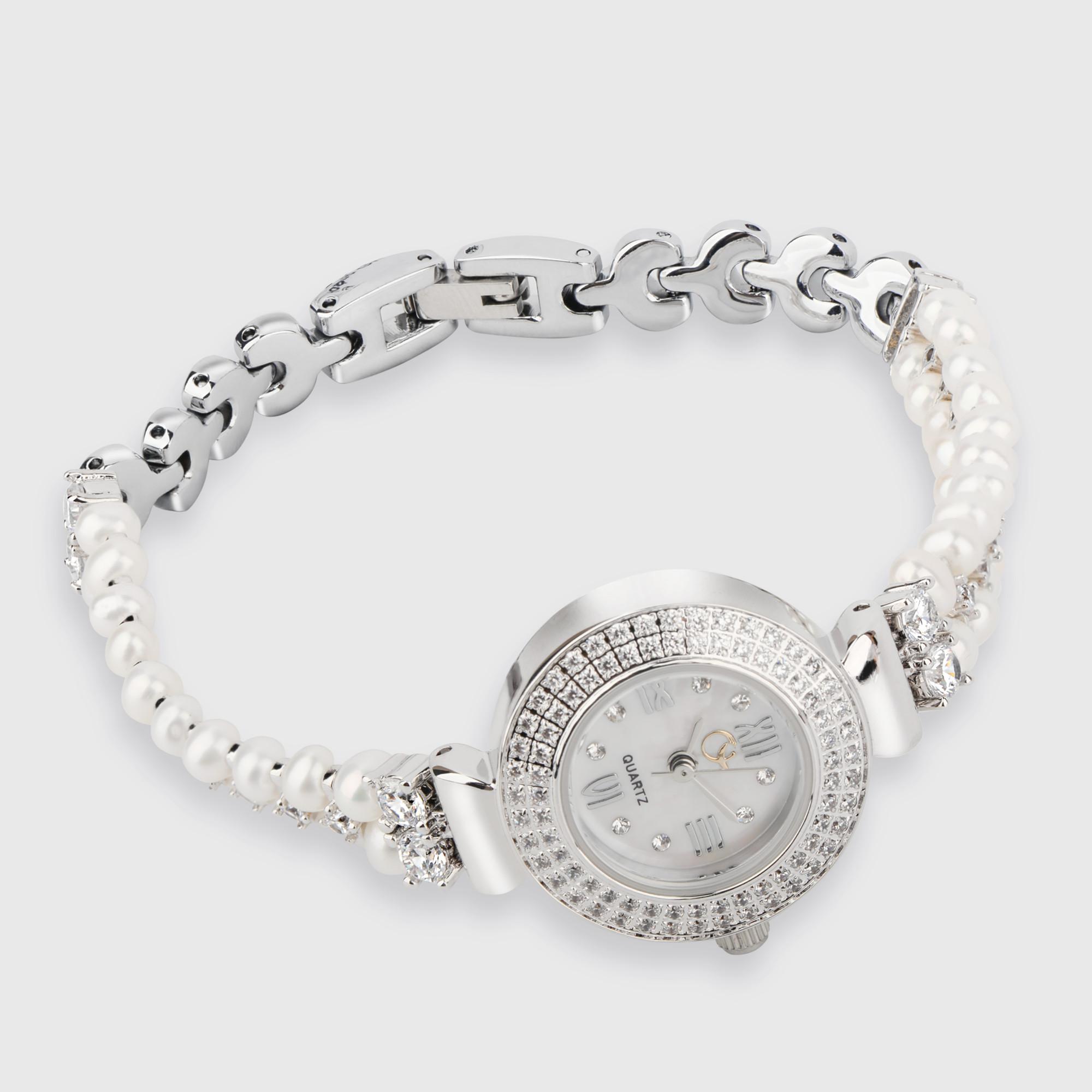 Đồng hồ hợp kim ngọc trai Freshwater 3.5-5mm chất liệu Hợp kim Kiểu dáng đơn giản thanh lịch I1012E0F32W026000Z000