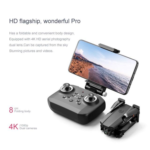 TẶNG TÚI ĐỰNG- Flycam mini XT6 4K hai camera kép ổn định hơn, chế độ nhào lộn 360°