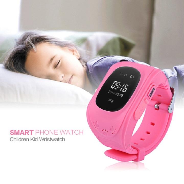 Đồng hồ định vị trẻ em  Q50 (hồng)