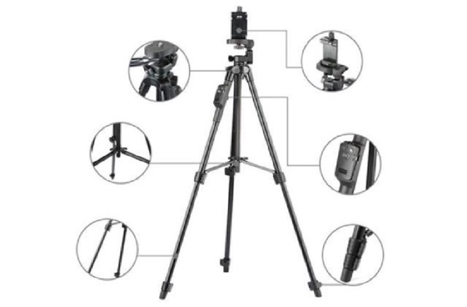 Chân giá đỡ cao cấp Tripod 3388 dùng cho Máy ảnh ; Điện thoại ; Camera