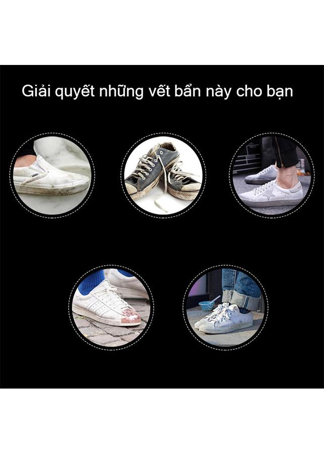 Chai xịt vệ sinh tẩy trắng giày dép  - Xi đánh giày không màu - Phụ kiện thời trang