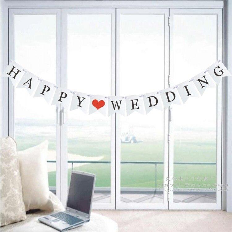 Dây treo Happy Wedding trang trí tiệc cưới