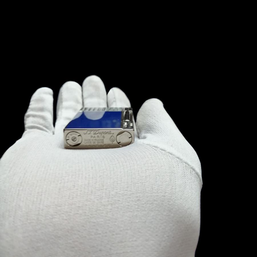 Hột Quẹt Bật Lửa Dùng Gas Đá Sơn Mài Xanh Sapphire Độc Lạ Và Sang Trọng