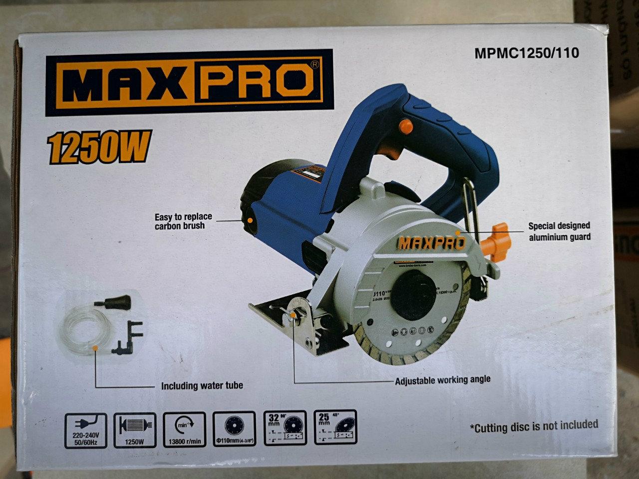 Máy cắt gạch, đá hoa cương 1250W Maxpro MPMC1250/110 110mm