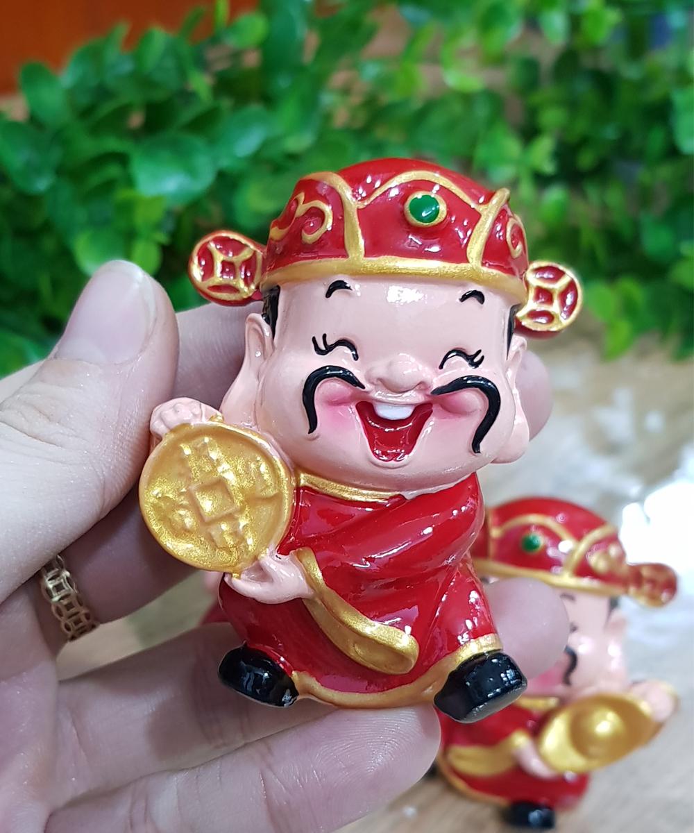 Bộ 03 tượng chibi Thần Tài size 6cm chiêu tài - may mắn